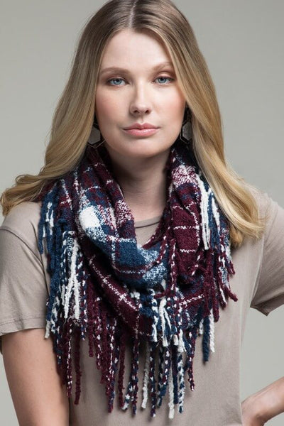 Rochelle Plaid Infinity Scarf