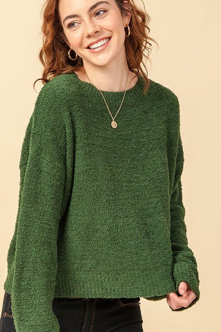 Reese Fuzzy Soft Knit Sweater