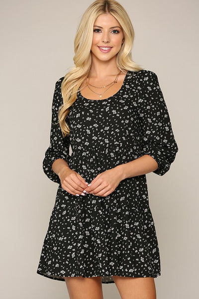 Nicolina Dainty Floral Tiered Dress