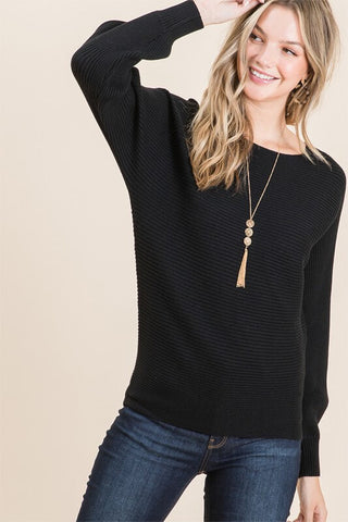 Arlena Boat Neck Dolman Sweater