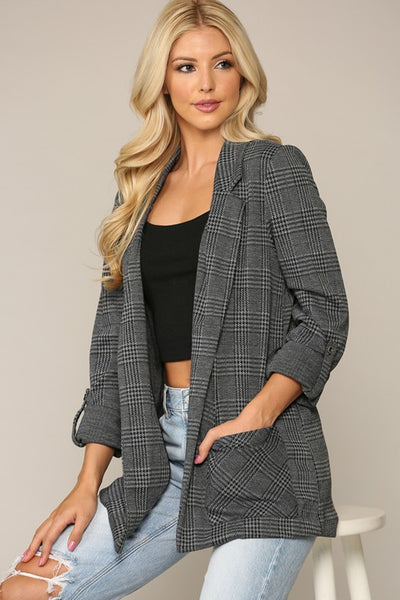 Channing Notched Collar Knit Blazer