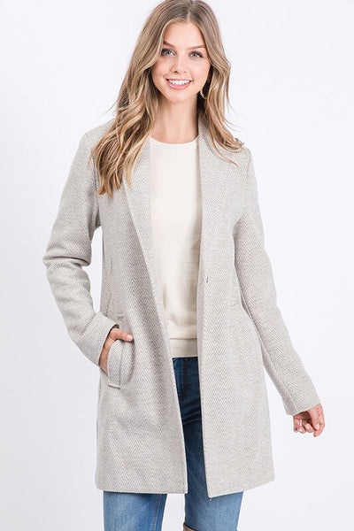 Adriel Herringbone Coat