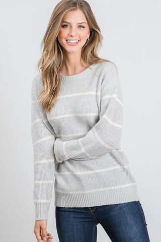 Jennifer Striped Knit Sweater