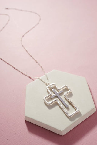 Hope Cross Pendant Necklace