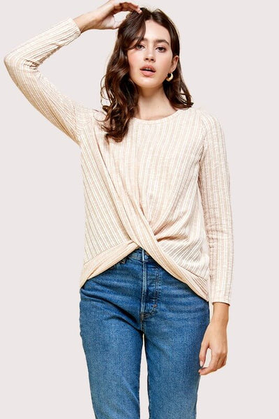 Laurel Solid Ribbed Pullover