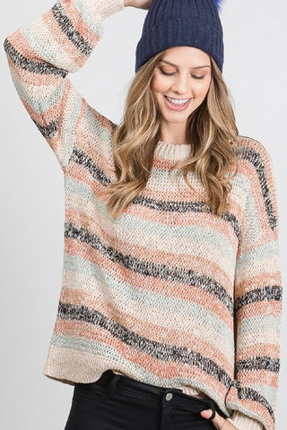 Parker Striped Loose Knit Sweater