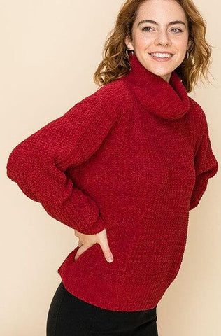 Charlee Chenille Turtleneck Sweater