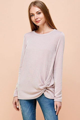 Willow Long Sleeve Striped Pullover