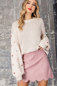 Layla Tufted Dot Sweater