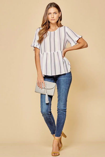 Melissa Striped Babydoll Top