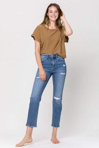 Vervet by Flying Monkey High Rise Slim Straight Ankle Jeans