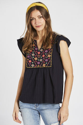 Juliette Embroidered Top