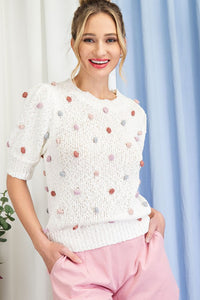 Lula Tufted Dot Sweater