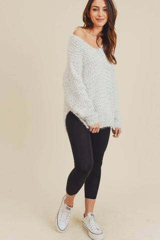Marisol Fuzzy Knit Sweater