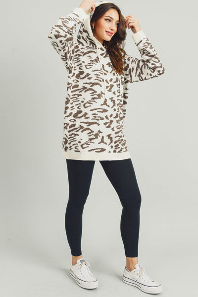 Audrey Animal Print Pullover