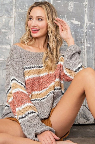 Blake Striped Scoop Neck Sweater