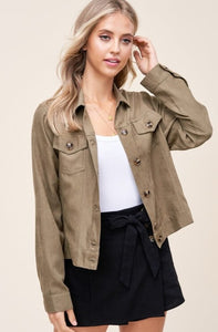 Addison Button Down Mini Corduroy Jacket