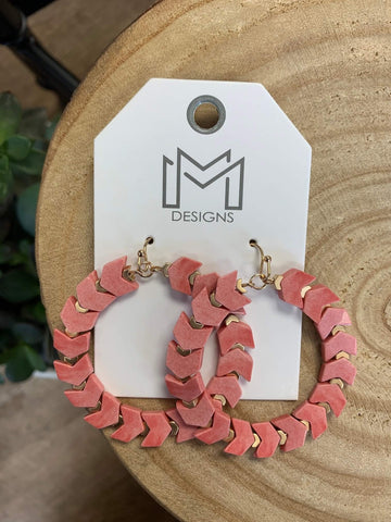 Kingston Earrings- Coral