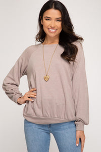 Devyn French Terry Knit Top