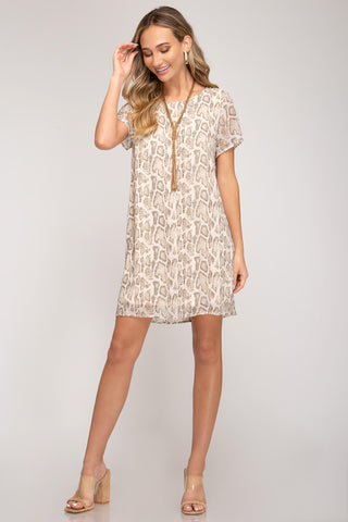Ronan Short Sleeve Shift Dress