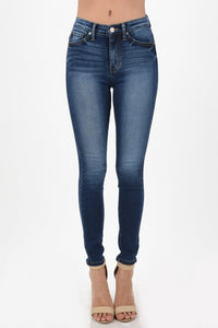 KanCan High Rise Dark Wash Skinny Jeans