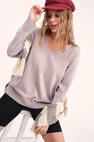 Gia Slouchy Sweater Top