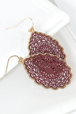 Nicolette Mandala Tear Drop Earrings
