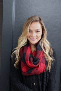 Kennedy Buffalo Plaid Infinity Scarf