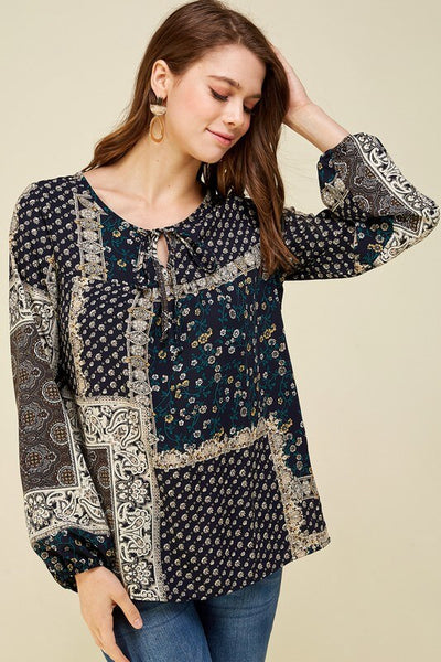 Delilah Patchy Print Top
