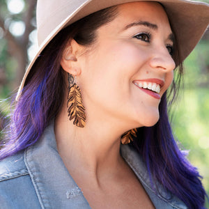 Grounded Goods Design- Large Feather Earrings