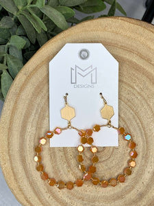 Skylar Earrings-Pumpkin