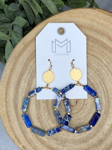 Stoney Earrings- Blue