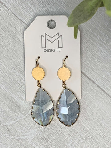 Rain Earrings- Grey