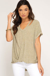 Lauren Short Sleeve Knit Top
