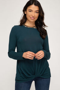 Logan Long Sleeve Knit Top