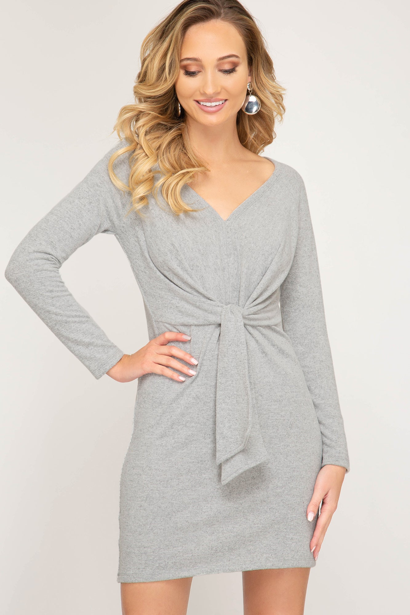 Avery Long Sleeve Brushed Knit Dress