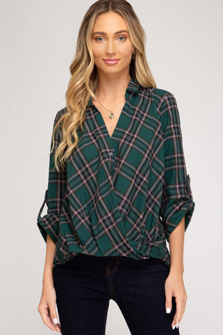 Keira Button Down Twist Front Top