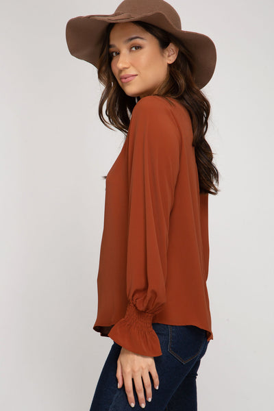 Silvia Smocked Sleeve Top