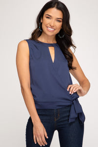 Justine Sleeveless Surplice Top
