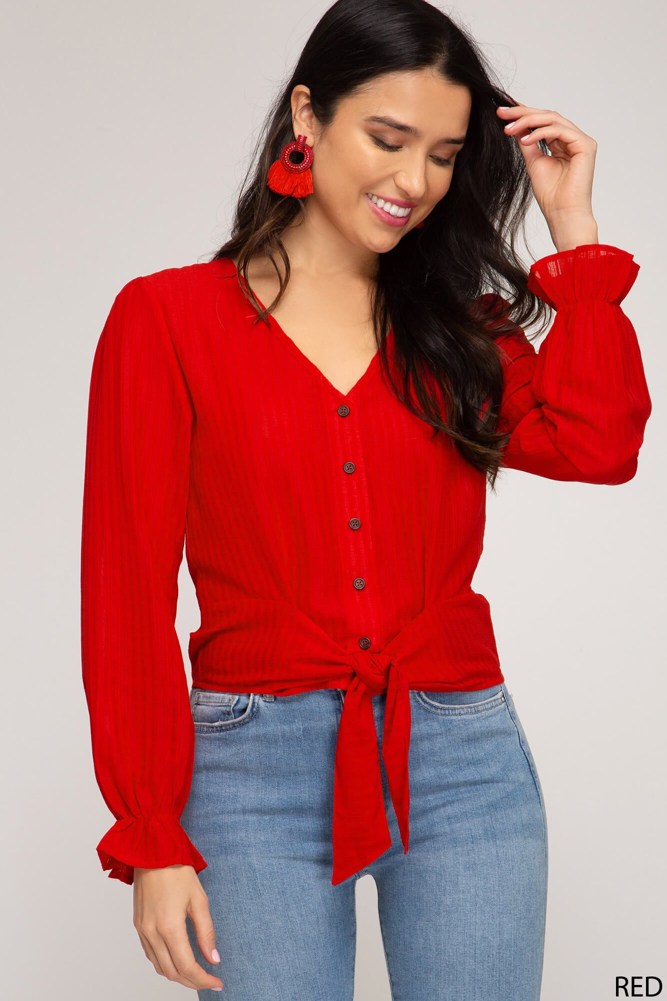 Eden Button Down Top