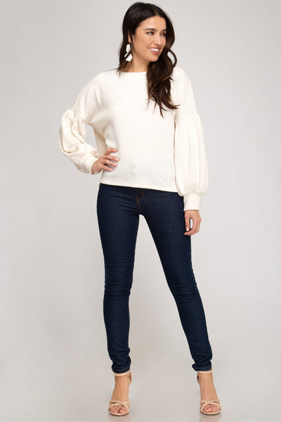 Romily Bubble Sleeve Top