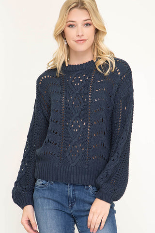 Camila Bubble Sleeve Sweater