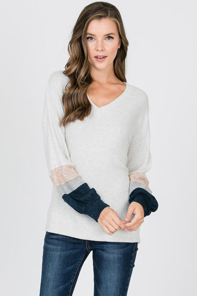 Finlay Color Block Sleeve Pullover