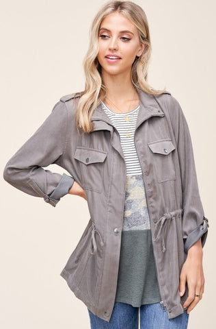 Reagan Drawstring Utility Jacket