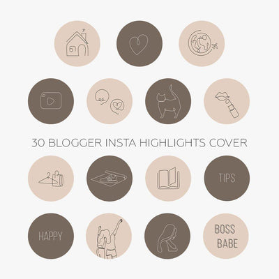 30 Blogger Insta Highlights Covers - JuliPresets
