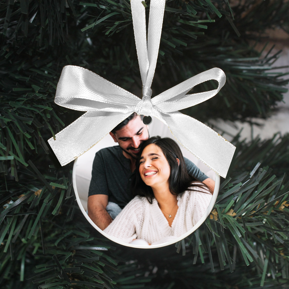 Personalised Engagement Photo Christmas Decoration