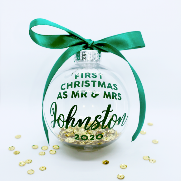 Personalised Couple Christmas Bauble