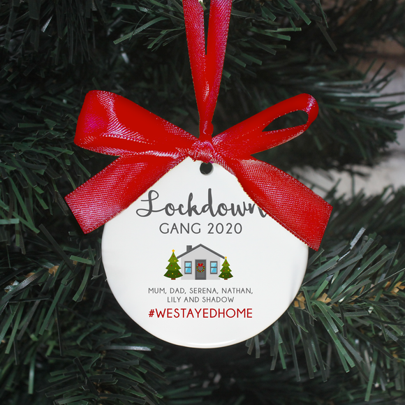 Personalised Lockdown 2020 Christmas Decoration