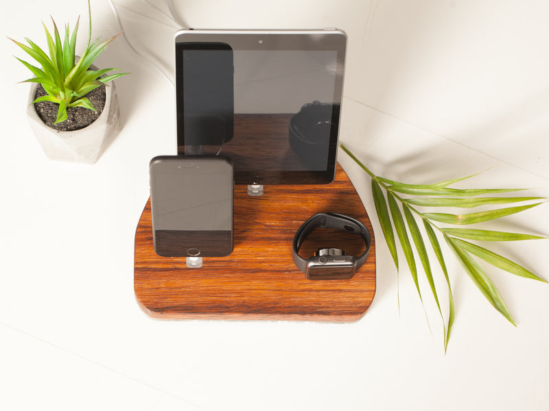 ATIK Docking Station: Organizer and charging station made from natural wood