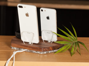 Multi-Device Docking Station for Apple, Charging Stand, Organizer, Charging Docking station  | ATIK III Merbau